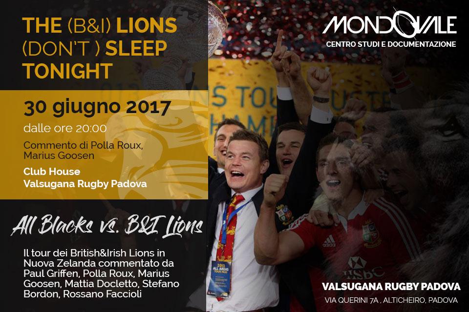 MONDOVALE PRESENTA IL TOUR DEI LIONS AL VALSU