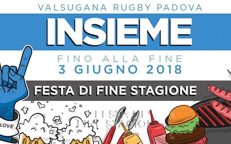 INSIEME FINO ALLA FINE! Festa di fine stagione   3 giugno 2018